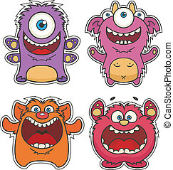 Set of Cute cartoon Monsters