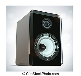 Audio Speaker - Realistic Vector Illustration