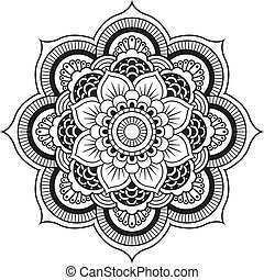 Mandala - Round Ornament Pattern