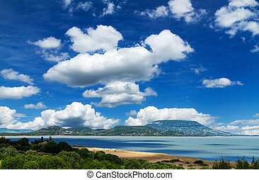 Landscape - Beautiful landscape from lake Balaton (Hungary)