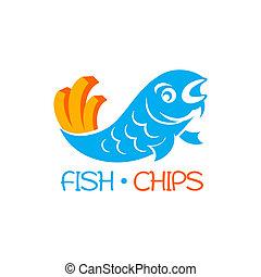 peixe, lascas