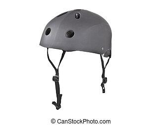 Skater Crash Helmet - Tough skater crash helmet isolated...
