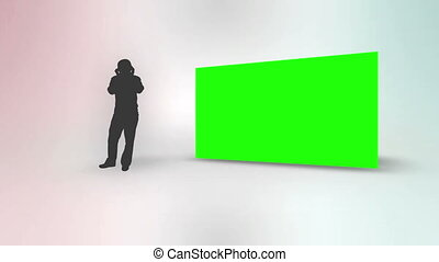 Leisure animation with silhouette and chroma key screen