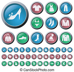 Clothes buttons - Clothes button set