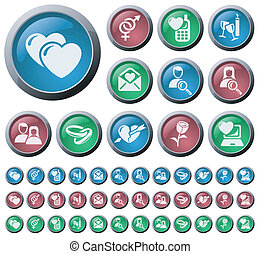 Love and dating buttons