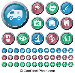 Medical buttons