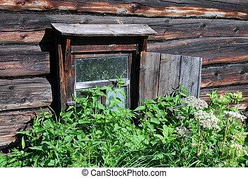Window of Abandoned Bath-house - Window of abandoned...
