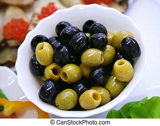 Olives - Fresh Vegetables, Fruits and other foodstuffs. Shot...