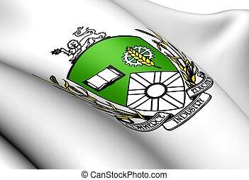 Saskatoon Coat of Arms, Canada. Close Up.