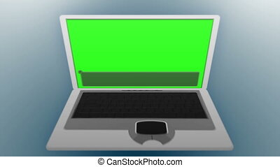 Laptop in chroma key