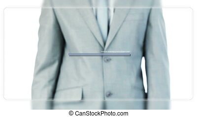 Man scrolling blank screens - Animation with a man scrolling...