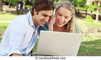 Lovers enjoying a park - Animation with lovers enjoying a...