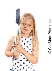 Girl with a shovel