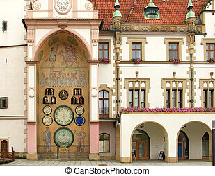 Olomouc. Czech Republic. - Town Hall and astronomical clock...