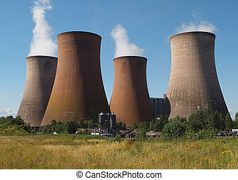 Coal fired power station - coal fired power station with...
