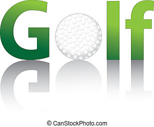 Golf ball with text