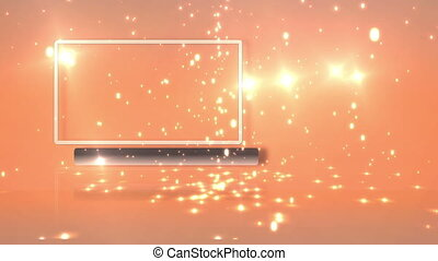 Empty frame with orange background - Animation with empty...