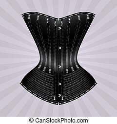 Black corset - Illustration of corset inspired by historic...