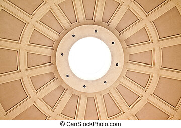 Round Domed Roof - A close-up of a skylight opening in a...