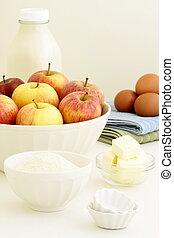 fresh apple pie ingredients