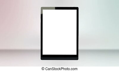 Tablet computer with a blank screen - Animation of a tablet...
