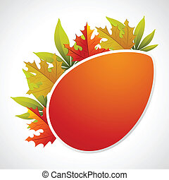 Autumn Template - illustration of autumn banner with maple...