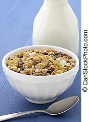 Delicious and healthy muesli or granola