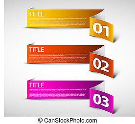 One two three - white vector paper options
