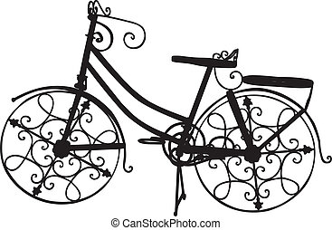 Ornate Bike - Vector of Ornate Bike