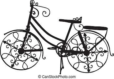 Ornate Bike - Vector of Ornate Bike