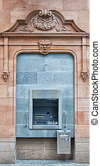 Cashpoint Machine - A cashpoint machine situated in an urban...
