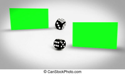 Dices rolling between screens in ch - Animation with dices...