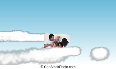 Family videos in the sky - Animation of family videos in the...