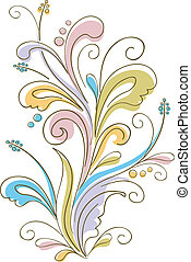 Flowery Ornament - Illustration Featuring Ornaments with a...