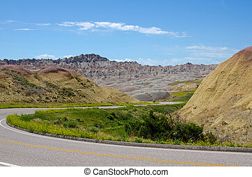 Badlands National Park, South Dakota, USA - Badlands Loop...