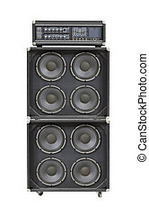 Vintage Bass Stack Amplifier Isolated
