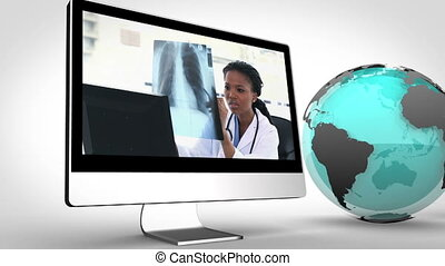 Video of doctors in multimedia with