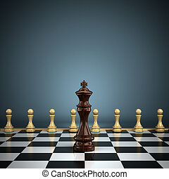 King with pawns