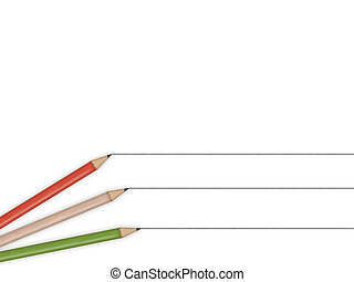 pencils - an illustration of colored pencils