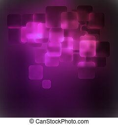 Purple abstract 3D warped square background. EPS 8