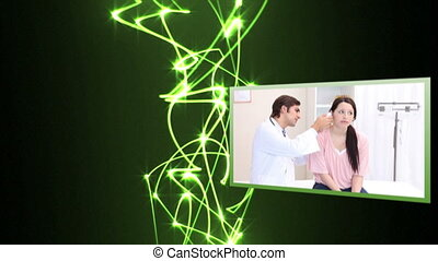 Medical videos with light beams