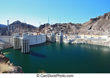 Hoover Dam USA - Hoover Dam and colorado river USA