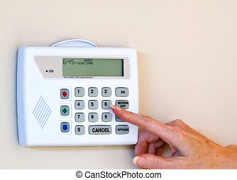Home security alarm  - Setting home security alarm monitor
