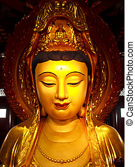 Guan Yin Statue wonderful - Gold Guan Yin Statue wonderful