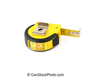 tape measure,isolated on white