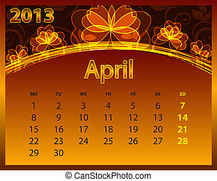 2013 calendar year on the abstract