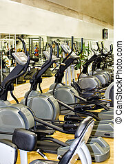 Athletic xtrainer machines in the fitness club