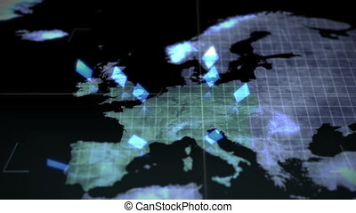 Continents in chroma key with Earth - Animation of...
