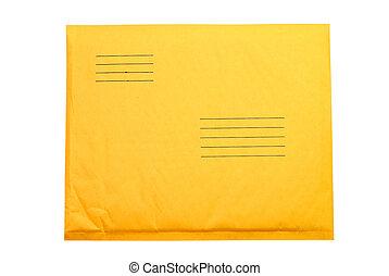 Manila Envelope - Manila envelope isolated on white...