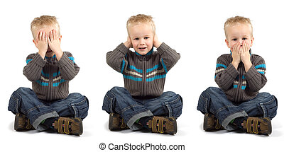 See Hear Speak - Young boy playing don\\\'t see, don\\\'t...